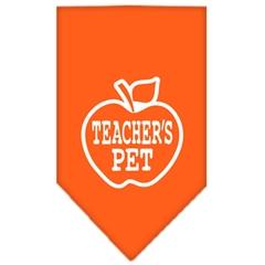Mirage Pet Products Teachers Pet Screen Print Bandana Orange Large