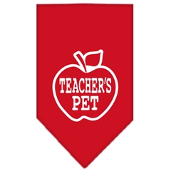 Mirage Pet Products Teachers Pet Screen Print Bandana Red Large