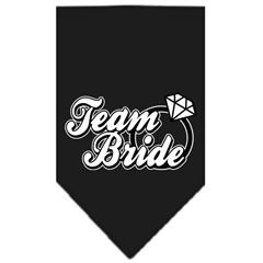 Mirage Pet Products Team Bride Screen Print Bandana Black Small