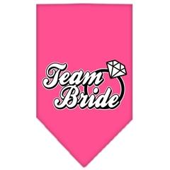 Mirage Pet Products Team Bride Screen Print Bandana Bright Pink Small