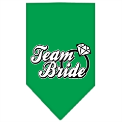 Mirage Pet Products Team Bride Screen Print Bandana Emerald Green Large