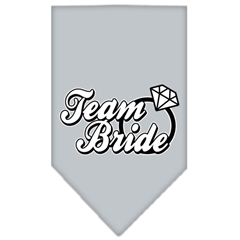 Mirage Pet Products Team Bride Screen Print Bandana Grey Large