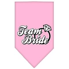 Mirage Pet Products Team Bride Screen Print Bandana Light Pink Large