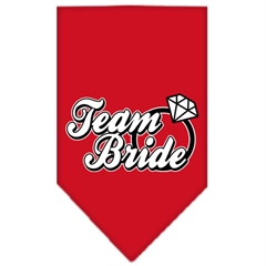 Mirage Pet Products Team Bride Screen Print Bandana Red Small
