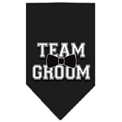Mirage Pet Products Team Groom Screen Print Bandana Black Small