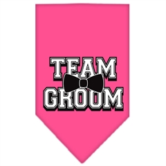 Mirage Pet Products Team Groom Screen Print Bandana Bright Pink Small
