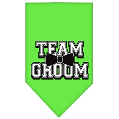 Mirage Pet Products Team Groom Screen Print Bandana Lime Green Large