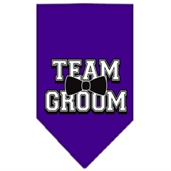 Mirage Pet Products Team Groom Screen Print Bandana Purple Small