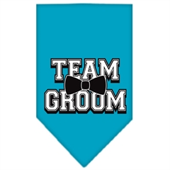 Mirage Pet Products Team Groom Screen Print Bandana Turquoise Large