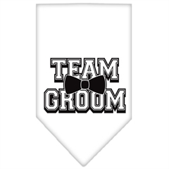 Mirage Pet Products Team Groom Screen Print Bandana White Large