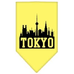 Mirage Pet Products Tokyo Skyline Screen Print Bandana Yellow Large