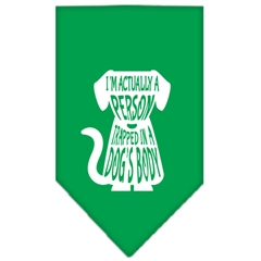 Mirage Pet Products Trapped Screen Print Bandana Emerald Green Large