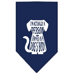 Mirage Pet Products Trapped Screen Print Bandana Navy Blue large