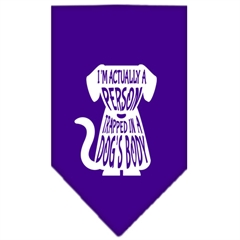 Mirage Pet Products Trapped Screen Print Bandana Purple Small