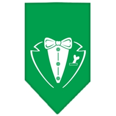 Mirage Pet Products Tuxedo Screen Print Bandana Emerald Green Large