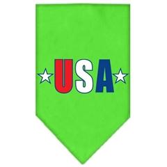 Mirage Pet Products USA Star Screen Print Bandana Lime Green Large