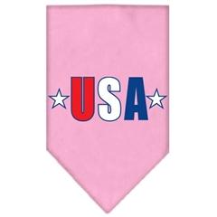 Mirage Pet Products USA Star Screen Print Bandana Light Pink Large