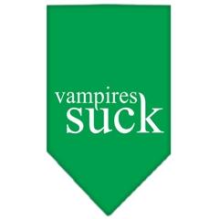 Mirage Pet Products Vampires Suck Screen Print Bandana Emerald Green Large