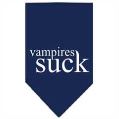 Mirage Pet Products Vampires Suck Screen Print Bandana Navy Blue Small
