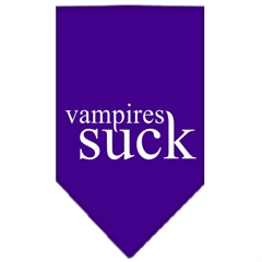 Mirage Pet Products Vampires Suck Screen Print Bandana Purple Large