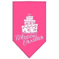Mirage Pet Products Wedding Crasher Screen Print Bandana Bright Pink Small