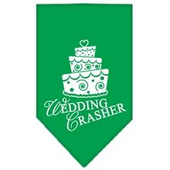 Mirage Pet Products Wedding Crasher Screen Print Bandana Emerald Green Small