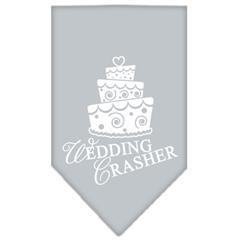 Mirage Pet Products Wedding Crasher Screen Print Bandana Grey Small