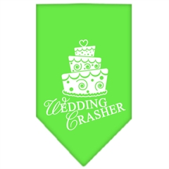 Mirage Pet Products Wedding Crasher Screen Print Bandana Lime Green Large