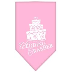 Mirage Pet Products Wedding Crasher Screen Print Bandana Light Pink Large