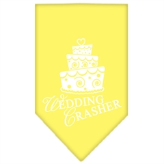 Mirage Pet Products Wedding Crasher Screen Print Bandana Yellow Large