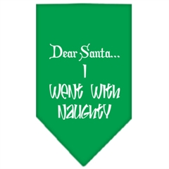 Mirage Pet Products Went with Naughty Screen Print Bandana Emerald Green Small