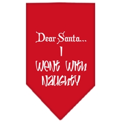 Mirage Pet Products Went with Naughty Screen Print Bandana Red Large