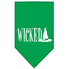Mirage Pet Products Wicked Screen Print Bandana Emerald Green Large