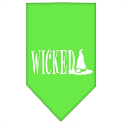 Mirage Pet Products Wicked Screen Print Bandana Lime Green Large