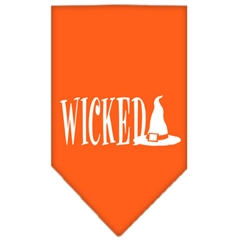 Mirage Pet Products Wicked Screen Print Bandana Orange Small