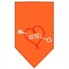 Mirage Pet Products XOXO Screen Print Bandana Orange Large