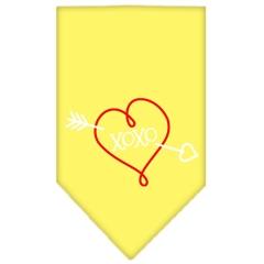 Mirage Pet Products XOXO Screen Print Bandana Yellow Large