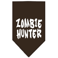 Mirage Pet Products Zombie Hunter Screen Print Bandana Cocoa Small