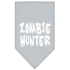 Mirage Pet Products Zombie Hunter Screen Print Bandana Grey Small