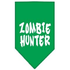 Mirage Pet Products Zombie Hunter Screen Print Bandana Emerald Green Small