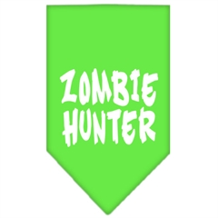 Mirage Pet Products Zombie Hunter Screen Print Bandana Lime Green Large