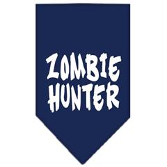 Mirage Pet Products Zombie Hunter Screen Print Bandana Navy Blue large