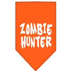 Mirage Pet Products Zombie Hunter Screen Print Bandana Orange Small