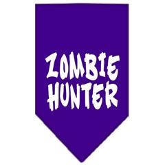 Mirage Pet Products Zombie Hunter Screen Print Bandana Purple Large