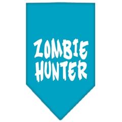 Mirage Pet Products Zombie Hunter Screen Print Bandana Turquoise Large