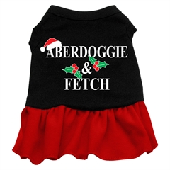 Mirage Pet Products Aberdoggie Christmas Screen Print Dress Black with Red XL (16)