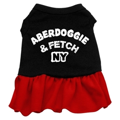 Mirage Pet Products Aberdoggie NY Dresses Black with Red Med (12)