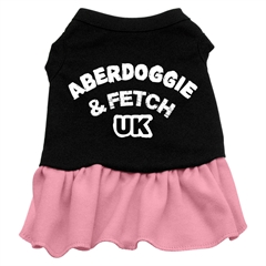 Mirage Pet Products Aberdoggie UK Dresses Black with Pink XS (8)