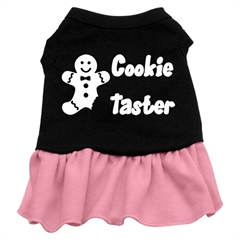 Mirage Pet Products Cookie Taster Screen Print Dress Black with Pink XS (8)