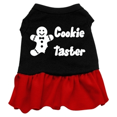 Mirage Pet Products Cookie Taster Screen Print Dress Black with Red Med (12)